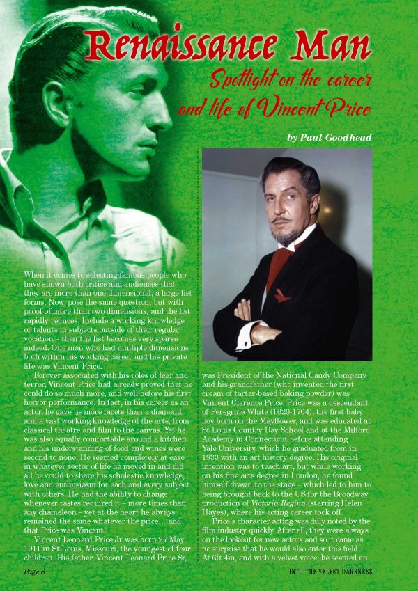 Vincent Price Book
